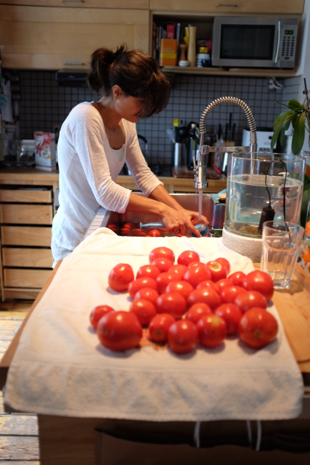 Nettoyage de tomates