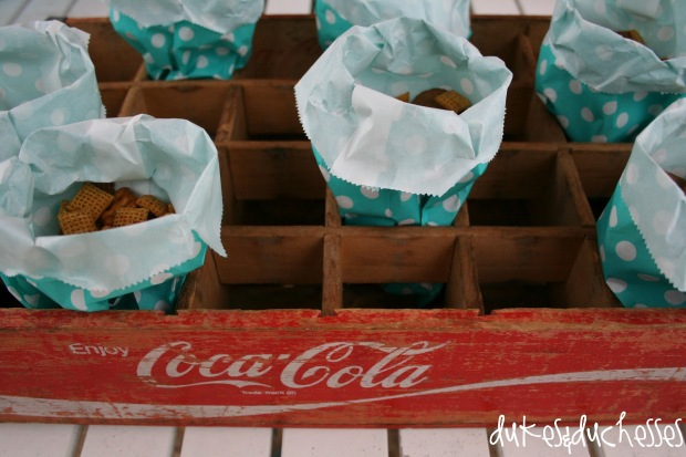 soda crate for party