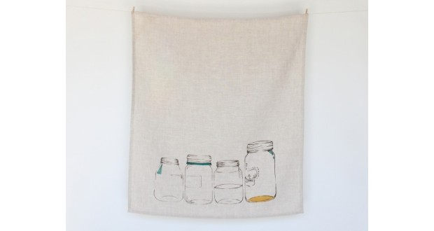 jars tea towel
