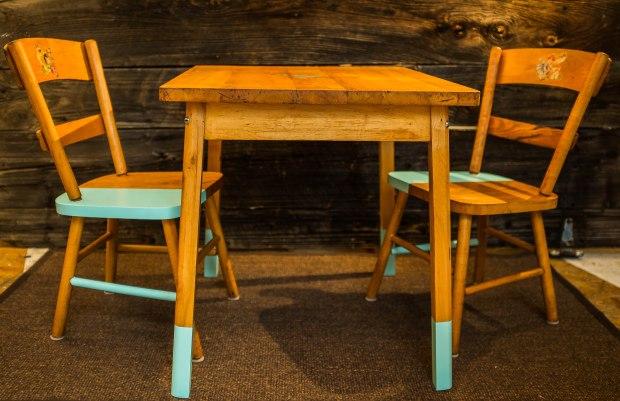 table et chaises années 50